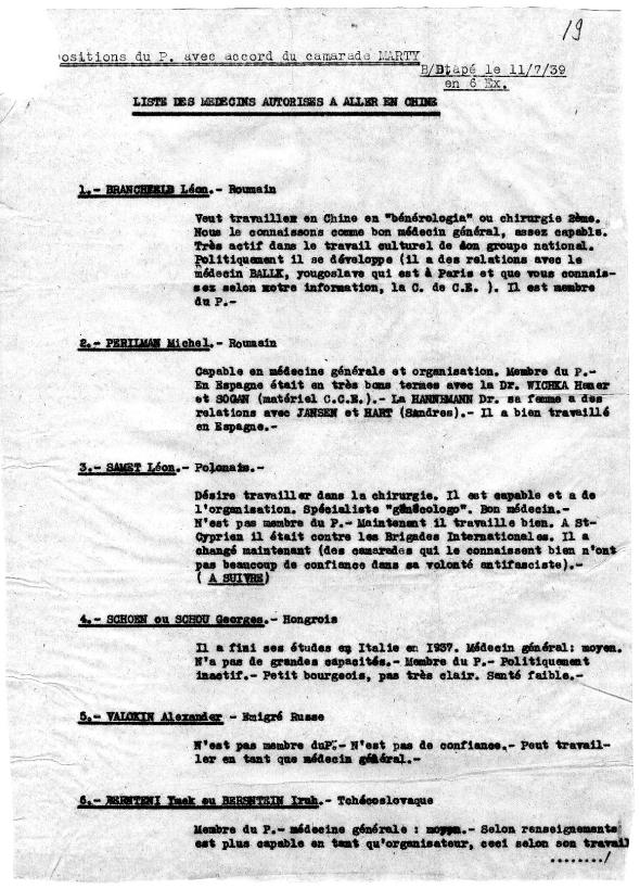 Dokters voor China (Komintern archief)