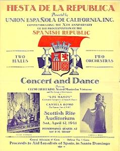 Benefiet concert voor Spaanse vluchtelingen Benedet San Francisco 1941
