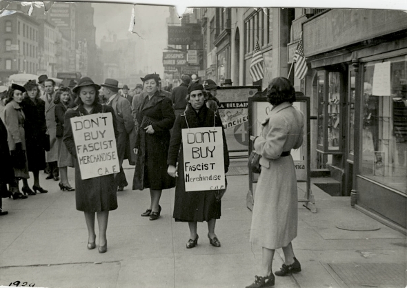 Picket line West 14thStreet New York City 1939 (Gil Cividanes)