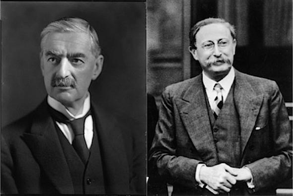 Neville Chamberlain & Leon Blum