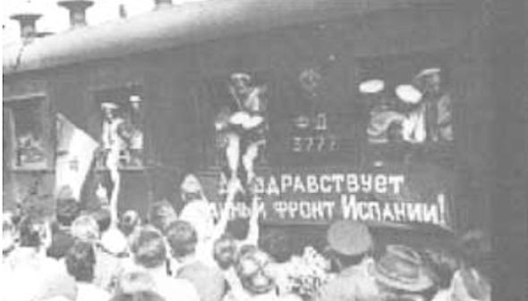 Spaanse vluchtelingen In Rusland.