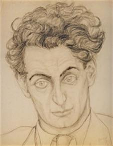 Gerard '39 Gerard du Bruin, oud-Spanjestrijder (*Amsterdam 1912 - † Neuengamme 1942) 1939, portretstudie Riek de Raat (aanwezig Stadsarchief Amsterdam)