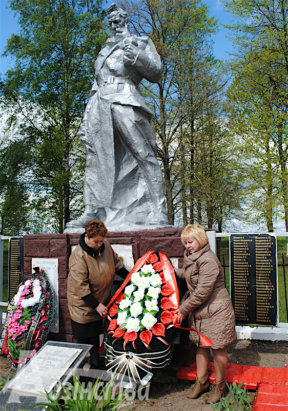 Herdenking Makovje, rayon Boriskovskij, Wit-Rusland, de plaats waar Rimmelt de Jong gesneuveld is.