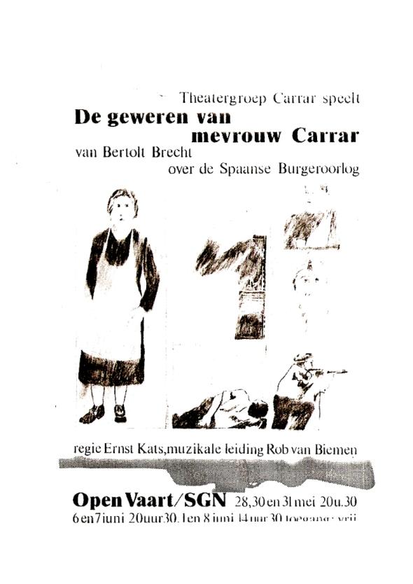 Uitvoering De Geweren Van Mevrouw Carrar