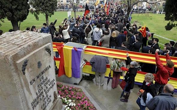 Valencia 18 juli 2016, herdenking slachtoffers franquisme