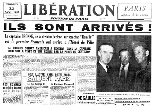 Liberation 25 augustus 1944