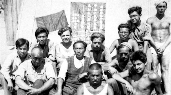 Chinese gevangenen in Kamp Gurs 1939