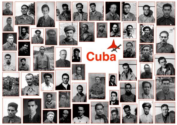 Portretfoto's Cubaanse Interbrigadisten uit het Kominternarchief