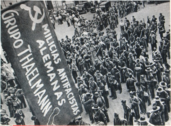 Soldiers of the Thälmann Battalion in Spain c.1938